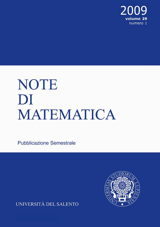 Note di Matematica - Cover