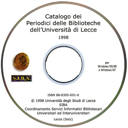 Catalogo dei Periodici Università di Lecce CD - Cover